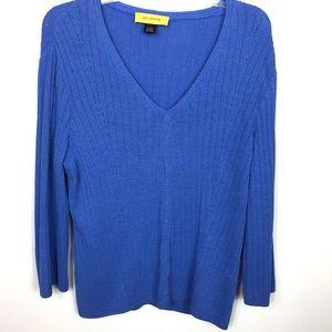 St. John V Neck Sweater L